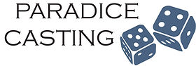 Paradice Casting Logo, blue pair of dice