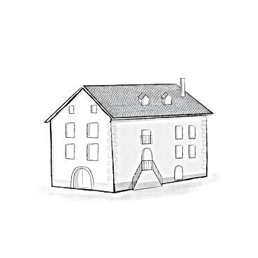 Ilustration de la maison de la rue Rainer Maria Rilke 1 à Sierre en Valais central où se situe la table d'hôtes La Table et Mise
