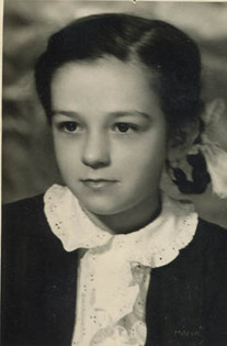 Mary at Loulou & Beena's wedding, 1949
