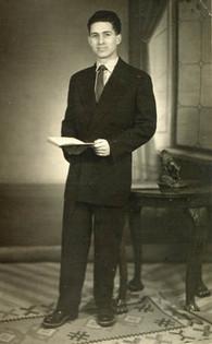 Janos' graduation, 1954