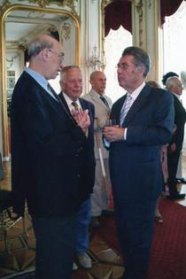 With Austrian President Heinz Fischer. Otto Deutsch is in background