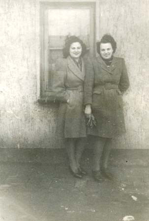 With Liki (right) in Celle 1946