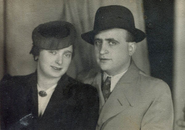 Julia's parents after their wedding, 1938