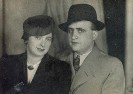 Julia's parents after their wedding, 1938