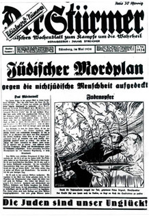 Der Stürmer was notorious for its antisemitic cartoons, May 1934. Courtesy of the Wiener Library