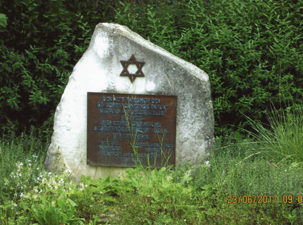Memorial site of the former Jewish cemetery in Erfurt