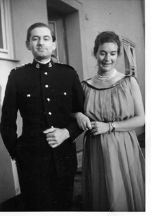 Suzanne and Basil during his National Service in Germany