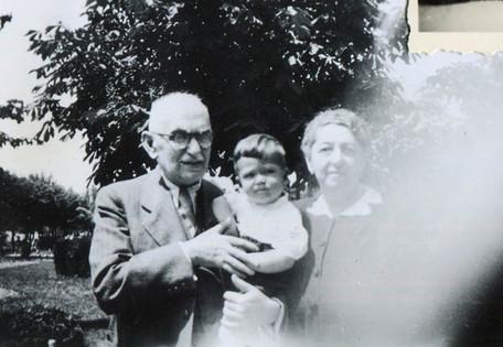 Ivan with his maternal grandparents