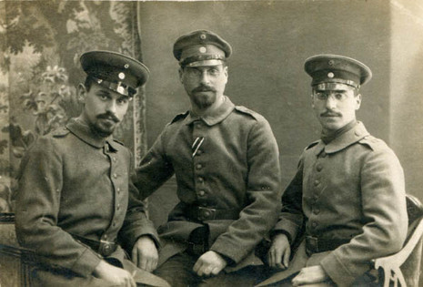 Father, uncle with Iron Cross & cousin, during WW1, 1917-18