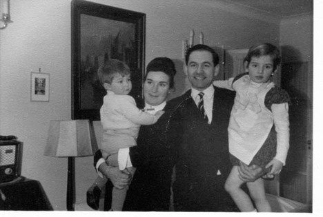 Suzanne and Basil with the children in 1965