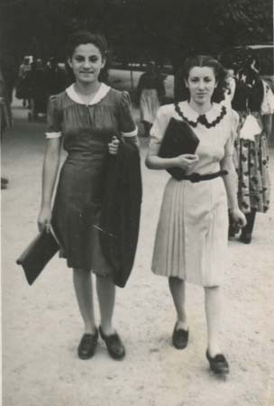 Eva (left) aged 14  in Cluj
