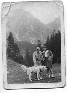 On holiday with her stepfather in the Tatra Mountains of Zakopane, August 1939