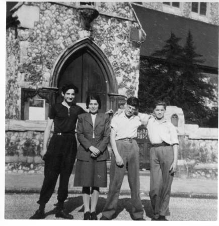 With others from the hostel, c.1946
