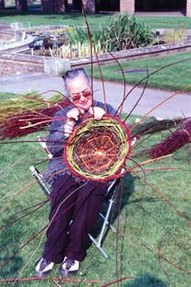 Suzanne weaving