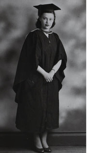 Graduating in Chemistry and Mathematics, 1951