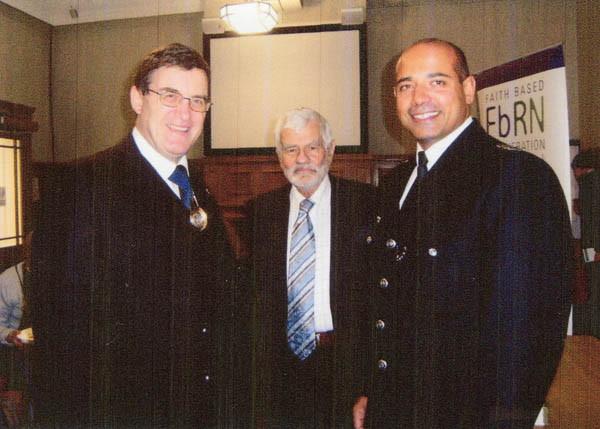 With Mayor and Borough Commander of Barnet Multi Faith Forum, 2009