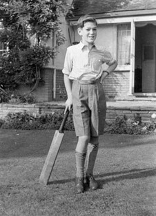 Playing cricket, 1951