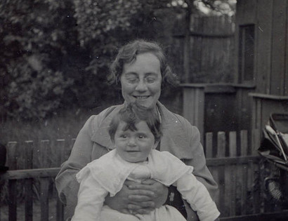 Margarete with her mother