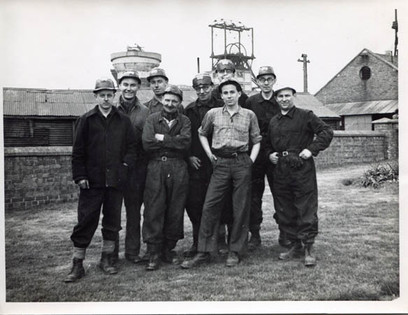 George with colleagues at the National Coal Board, 1956