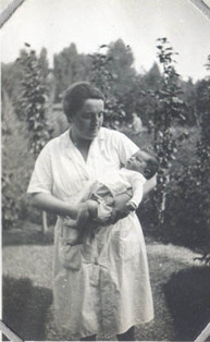 Suzanne as a baby