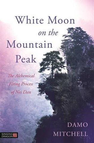 White Moon on the Mountain Peak