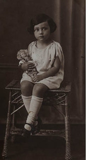 Berta as a young child