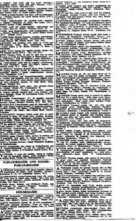 The classified ad from The Times which Charlotte's father put in asking for positions in England, 27 October 1938