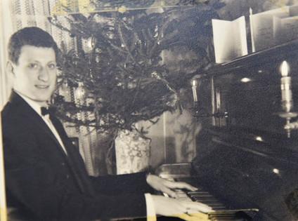 Tom at the piano