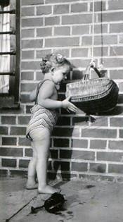 Inspecting Tanti Shüfftan's basket of goodies, June