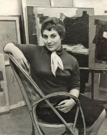 Age 19 in her uncle's atelier in Montparnasse