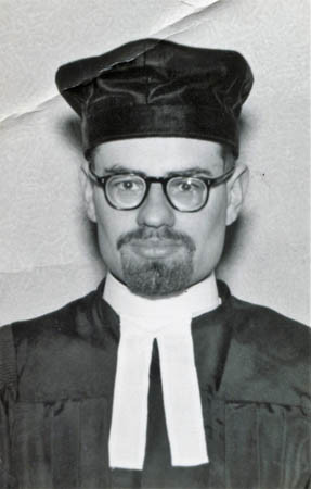 In ministerial robes, 1953