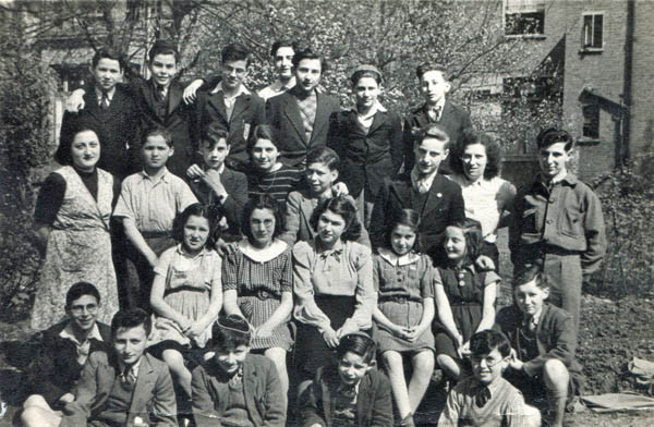 Children from the North London hostel. Bernd is 3rd from left, back row