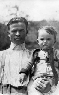 Mihály with Gyorgyika,1935
