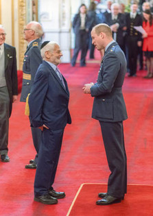 Receiving MBE from Prince William
