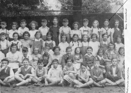 Class of 1934. Berta is back row, second to the right. Alek Weiss second row, 4th from right