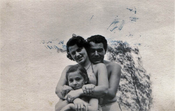 With Loulou and Beena in Vienna, August 1949