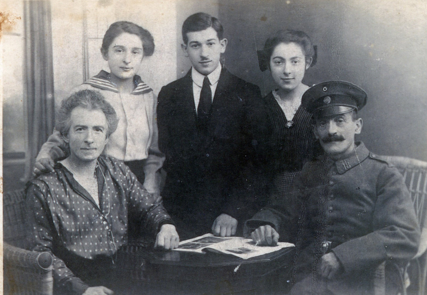 Father's parents with his siblings (left to right standing) Johanna, Kurt and Paula