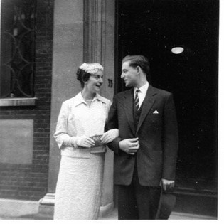 Suzanne and Basil on their wedding day