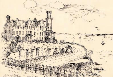 Drawing of Onchan camp, Isle of Man, by an internee, June 1940