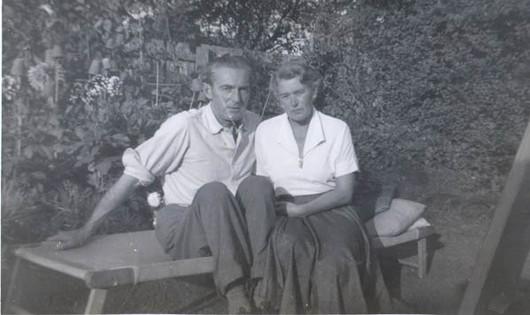 Uncle Miklós & Aunty Hilda,1958