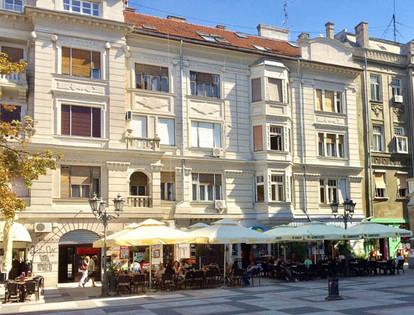 Block of flats Novi Sad where Ivan was born