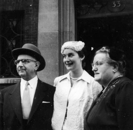 Suzanne on her Wedding day with her parents