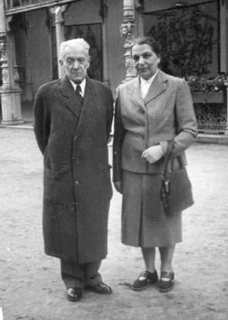 Maternal grandparents in Prague, 1950