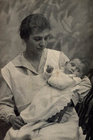 With Nanny, 1925