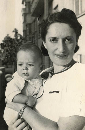 Ivan with his mother, 1939