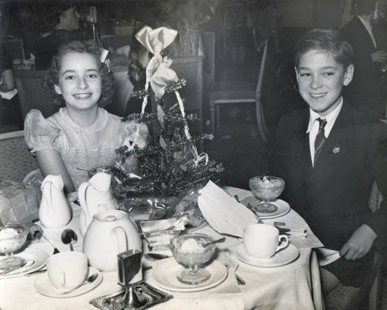 At the Savoy in 1949 with Vivien at whose wedding Ivan would meet his wife