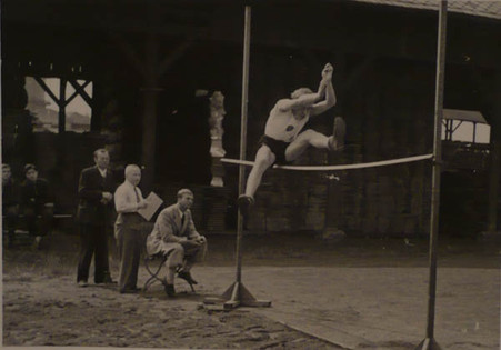 Heinz aged 17 years old taking part in an athletics competition at Fürth Sports Club