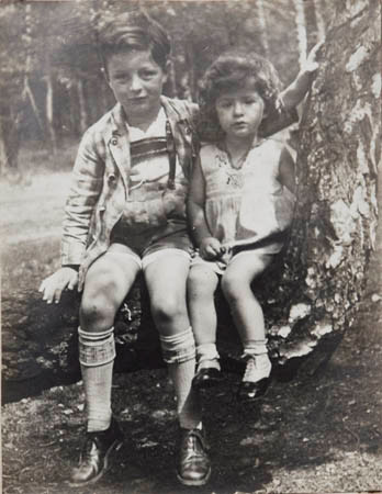Rudi as a seven year old along side his three year old sister, Winnie