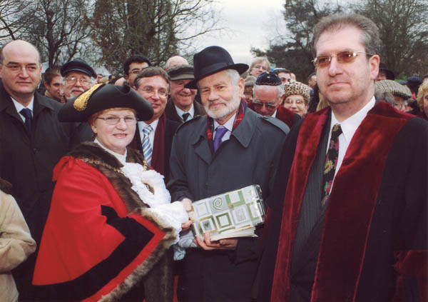 With Mayor of Barnet on Holocaust Memorial Day 2003