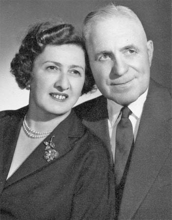 Janos' parents, 1946